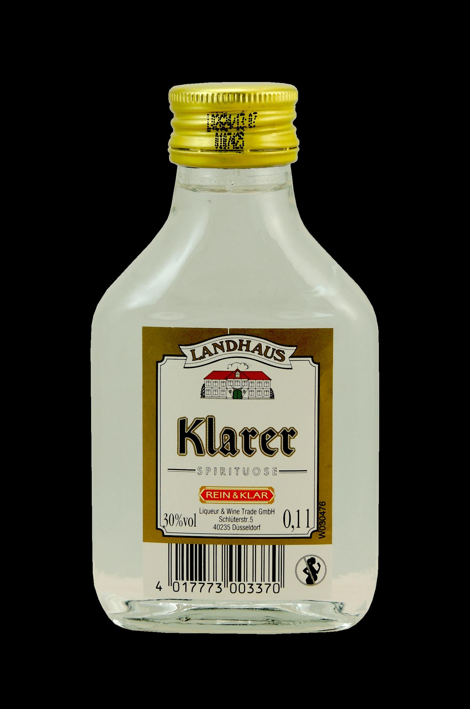 Klarer Spirituose