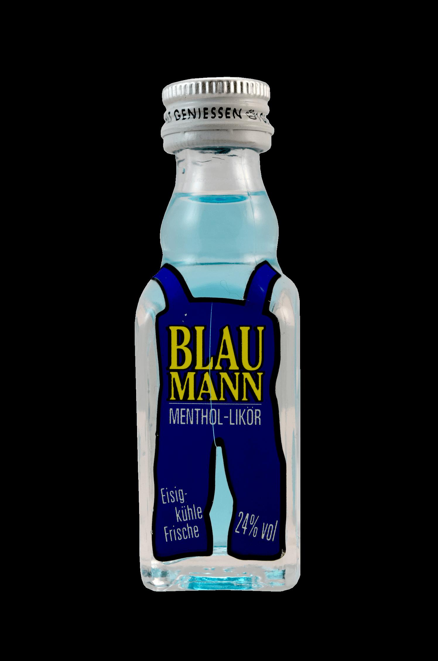 Blau Mann Menthol Likör